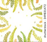 fern leaves   Shutterstock .eps vector #349831472