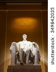 lincoln memorial illuminated at ... | Shutterstock . vector #349842035