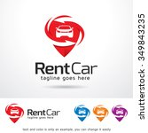 rental car logo template design ... | Shutterstock .eps vector #349843235