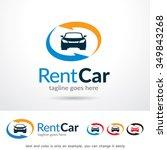 rent car logo template design... | Shutterstock .eps vector #349843268