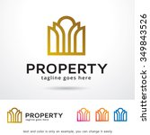 property logo template design... | Shutterstock .eps vector #349843526