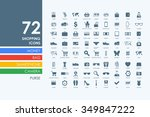 shopping vector set of modern... | Shutterstock .eps vector #349847222