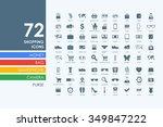 shopping vector set of modern... | Shutterstock .eps vector #349847222