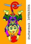 line art drawing of ethnic...   Shutterstock .eps vector #349865006