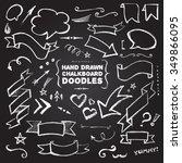 hand drawn chalkboard doodles...   Shutterstock .eps vector #349866095