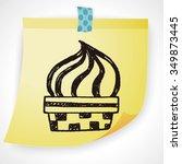 doodle ice cream | Shutterstock . vector #349873445
