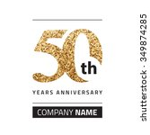 50th anniversary in gold. | Shutterstock .eps vector #349874285