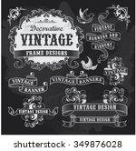 hand drawn blackboard banner... | Shutterstock .eps vector #349876028