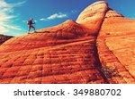 hike in utah mountains | Shutterstock . vector #349880702