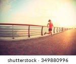young fitness woman runner... | Shutterstock . vector #349880996