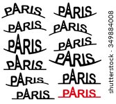 the stylized logo of paris... | Shutterstock .eps vector #349884008
