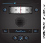 radio player app interface... | Shutterstock .eps vector #349886012