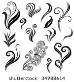Set Of Leafs And Plants Design ...