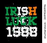 irish luck1988 lettering print  | Shutterstock .eps vector #349904996