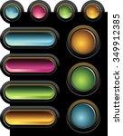 gel buttons infographics... | Shutterstock .eps vector #349912385