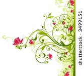 floral background | Shutterstock .eps vector #3499151