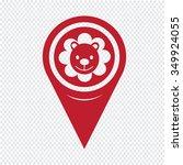 map pin pointer lion icon