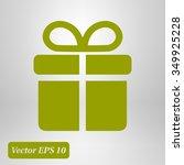 gift box  icon. | Shutterstock .eps vector #349925228