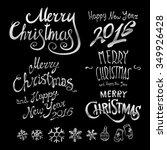 silver textured handwritten... | Shutterstock .eps vector #349926428