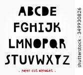 paper cut alphabet for your... | Shutterstock .eps vector #349930826