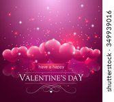 happy valentine's day message ... | Shutterstock .eps vector #349939016