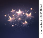 Defocused Magic Star Backgroun...