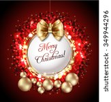 merry christmas greeting card... | Shutterstock .eps vector #349944296