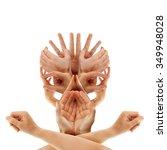 caucasian hands forming a...   Shutterstock . vector #349948028