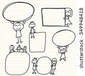 happy family social network | Shutterstock .eps vector #349948418