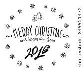 merry christmas black... | Shutterstock . vector #349951472
