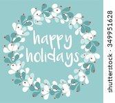 Happy Holidays Pastel Vector...