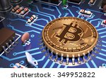 concept of bitcoin like a... | Shutterstock . vector #349952822