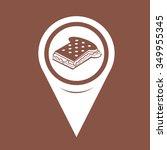 map pin pointer sandwich cheese ... | Shutterstock .eps vector #349955345