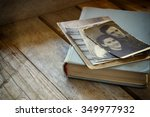 Antique Photos And Old Book On...