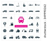transportation icons set.... | Shutterstock .eps vector #349990262