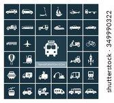 transportation icons set.... | Shutterstock .eps vector #349990322