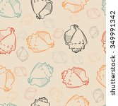 seamless pattern with seashell | Shutterstock .eps vector #349991342