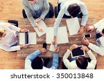 business  people and team work... | Shutterstock . vector #350013848