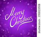 purple merry christmas greeting ... | Shutterstock .eps vector #350023508