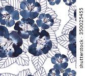 floral seamless pattern    Shutterstock . vector #350025455