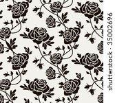black roses | Shutterstock .eps vector #35002696