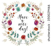 have a nice day card  lettering ... | Shutterstock .eps vector #350029466