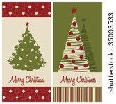 christmas card set  vector... | Shutterstock .eps vector #35003533