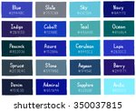 blue tone color shade... | Shutterstock .eps vector #350037815