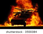 Car Is Driving Through Fire