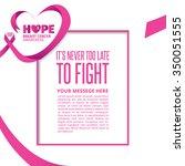breast cancer awareness pink... | Shutterstock .eps vector #350051555