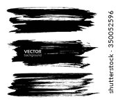 thick long black smears... | Shutterstock .eps vector #350052596
