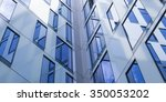 abstract facade lines and glass ... | Shutterstock . vector #350053202