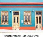 a house in lima  peru   Shutterstock . vector #350061998