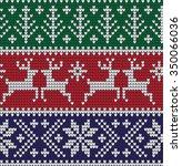 knitting christmas pattern | Shutterstock .eps vector #350066036